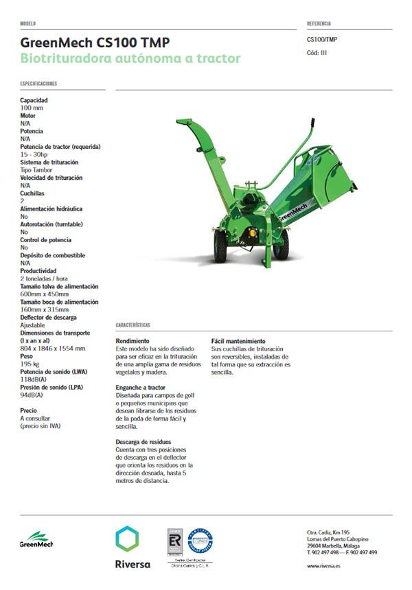 Greenmech CS 100 TMP